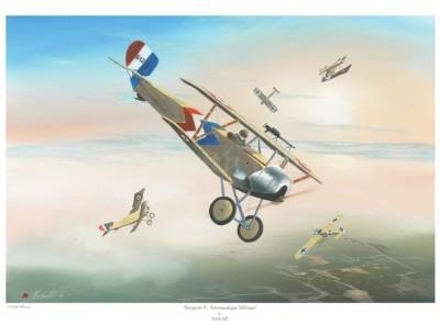-A4 Print- Nieuport II – Aeronautique Militaire