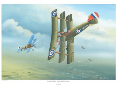 -A4 Print- Sopwith Triplane – Royal Naval Air Service