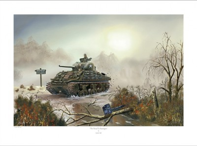A4 Print – The Road To Bastogne